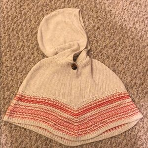 Baby gap baby girl hooded poncho